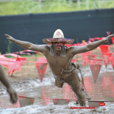 Guy jumping mud iwvced