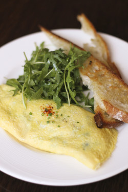 Accanto's asparagus omelette