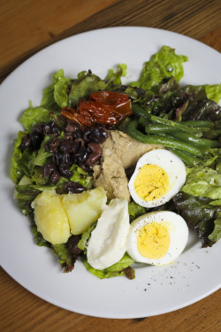 The Salad Nicoise at Tasty n Alder, made with confit potatoes and house-canned tuna.