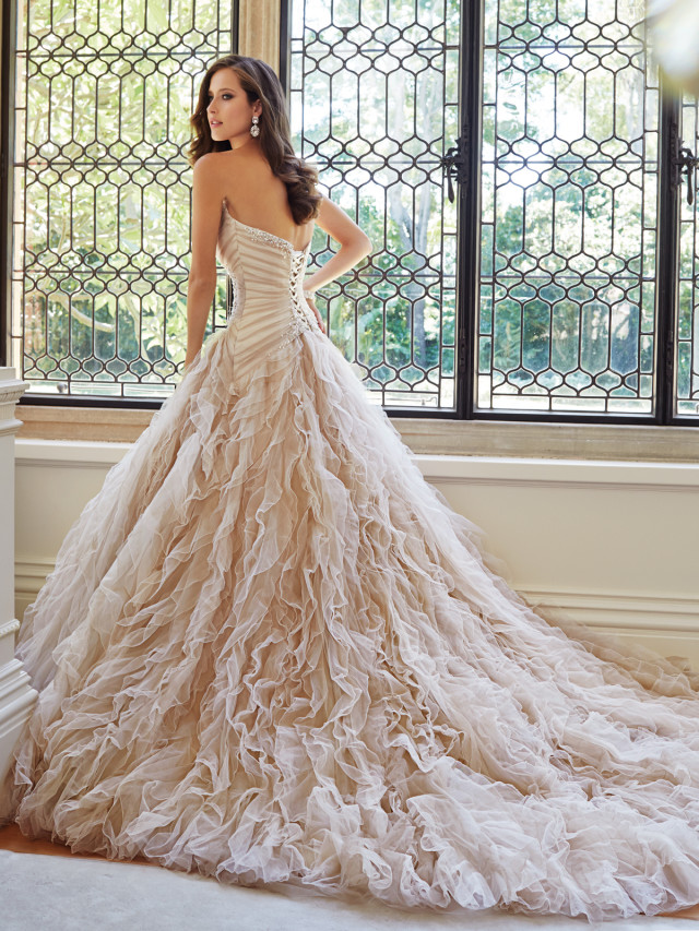 Stephen Yearick Wedding Gowns 15 Simple Image via Sophia Tolli