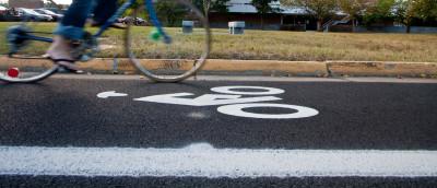 Bicycle lane on eastern mennonite university campus sccs23