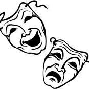 Tragedy and comedy masks zl0h3i