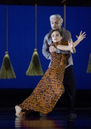 "Andrea Parson and Franco Nieto in the world premiere of Sarah Slipper's ""After the Shake"""