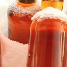 Stock footage beer left outside in snowy cold weather bhy9y3