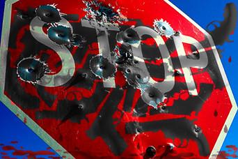 Gun violence alg stop sign jd1kab