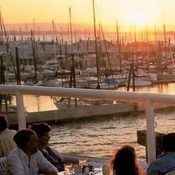 Portland waterfront dining sunset ce0dwe
