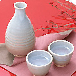 Sake set red srnldq