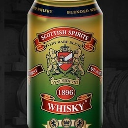 Scotch whisky in a can 260 o7yzcl