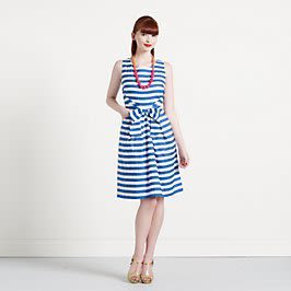 Striped jillian dress ybsrgi