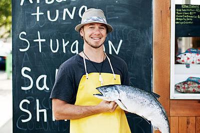 Local food shops fishmongers flying fish company lyf gildersleeve portland 1012 l qkzybh