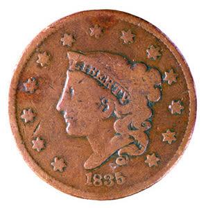 1845 copper penny kdf4id