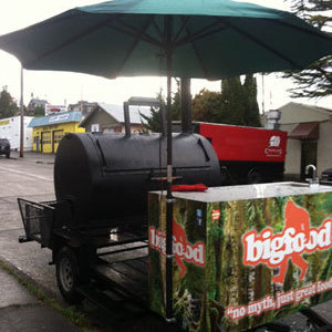 Bigfood food truck barbecue trailer jlfvti