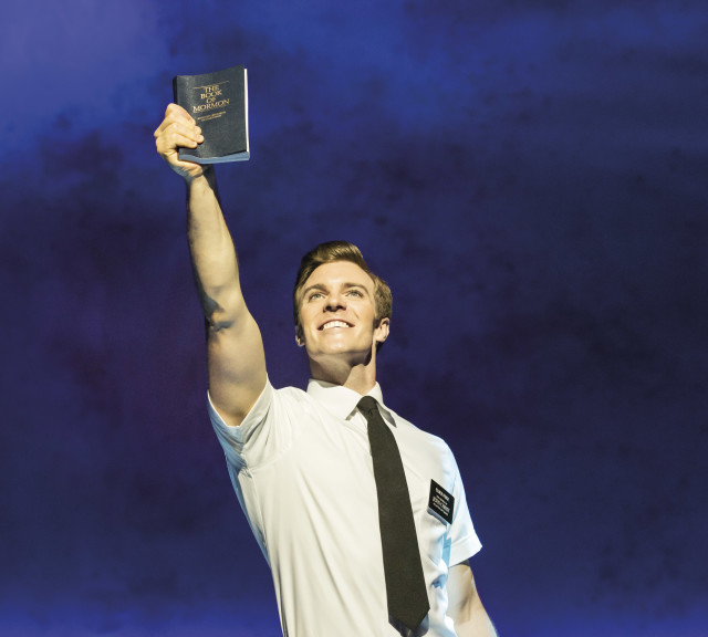 Photo one. billy harrigan tighe. the book of mormon. credit johan persson g3gqyi