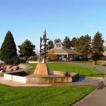 Fountain at marina park hweexc