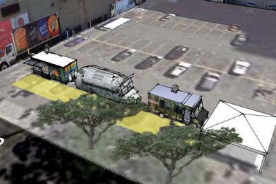 Downtown seattle food truck pod got5cp