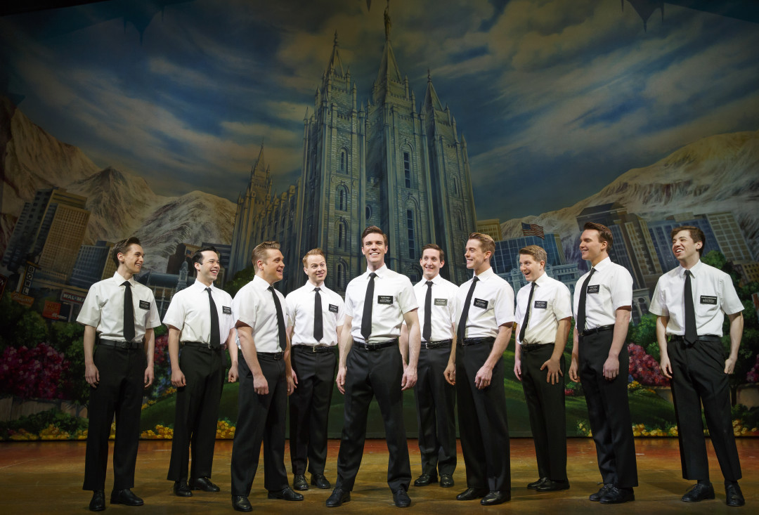 Photo three. the book of mormon company.  the book of mormon.  credit joan marcus  2015 xyplut