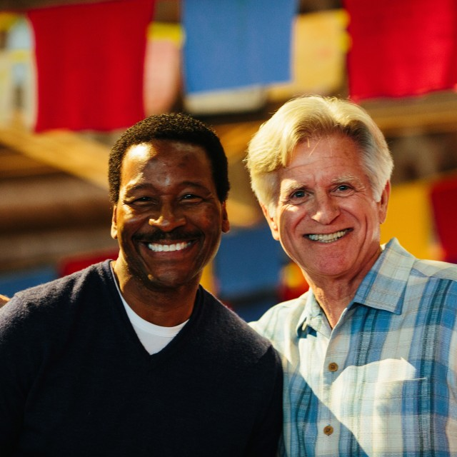 5   komo weather anchor steve pool and retired news anchor dan lewis reunite to host grow at camp korey. y8rxxu