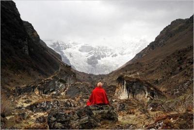 Matthieu Ricard's 'The Jango Thang Plain and the Jomolhari Glacier, Bhutan' at PDX Contemporary