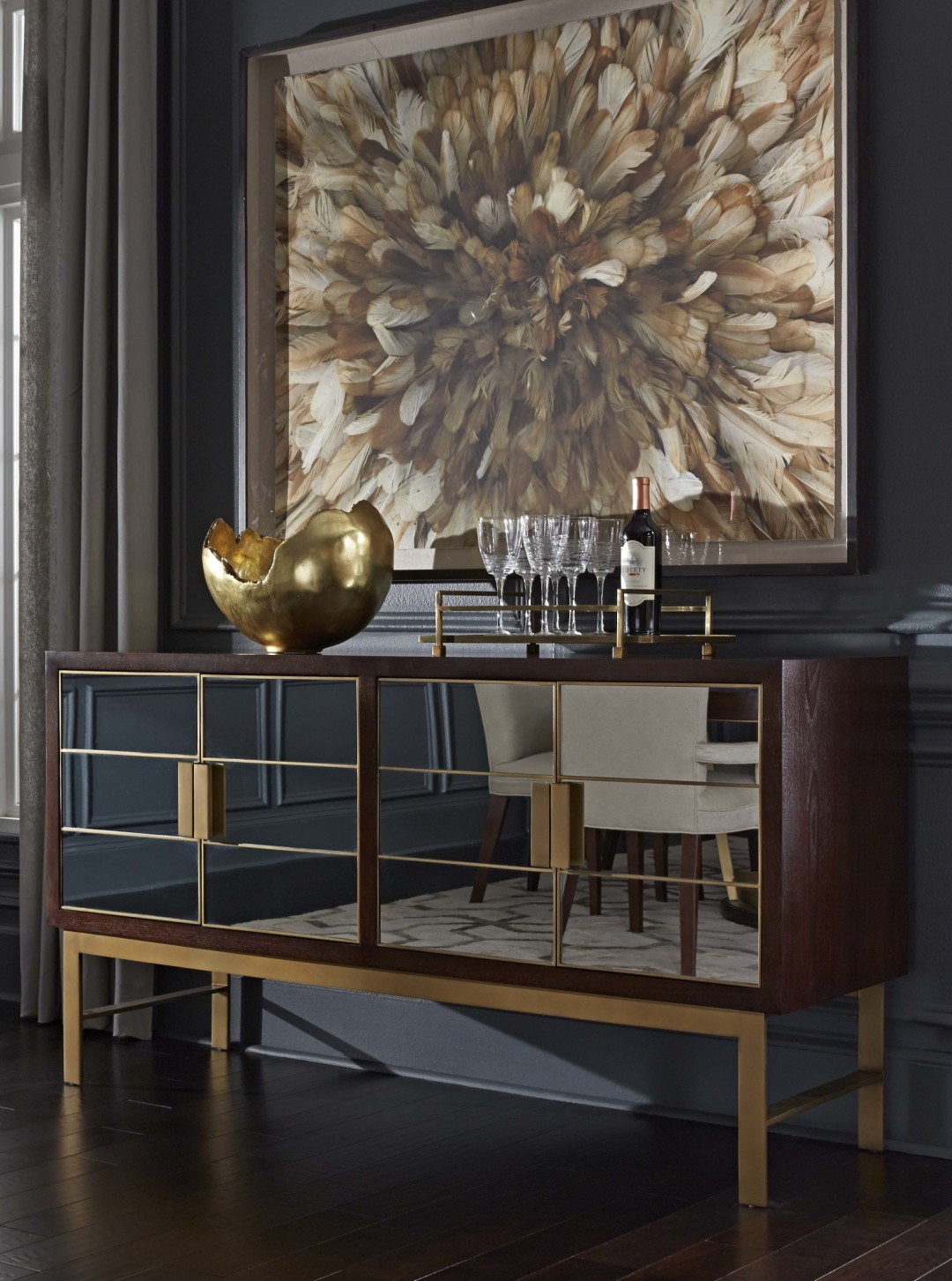 ... While Gold Is Currently Digging The Delaney Console. U201cI Just Put That  In My House In Hickory,u201d He Says. U201cMy House Its Kind Of Adirondack Style,  ...