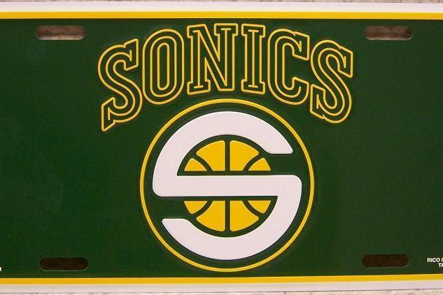 Nba 20seattle 20supersonics 20license 20plate wxmdte