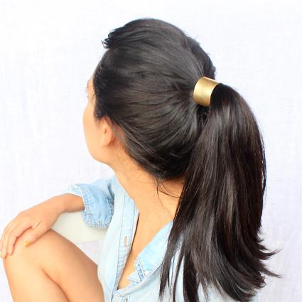 Large brass hair tie xv6gzd