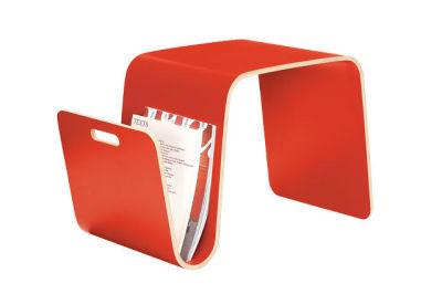Red plywood side table rlqfbv