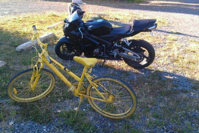 Yellow bike setujz