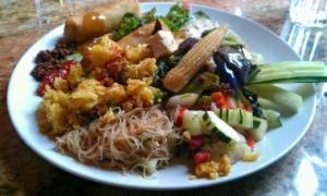 Araya's Place Vegan Lunch Buffet Sampler