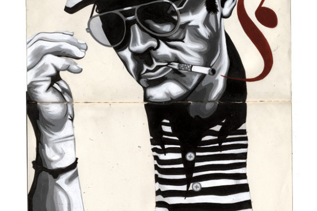 Hunter thompson illustration fsrodl