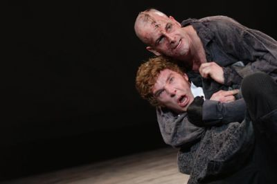 11 the creature  jonny lee miller  and victor frankenstein  benedict cumberbatch . photo by catherine ashmore yjifwr