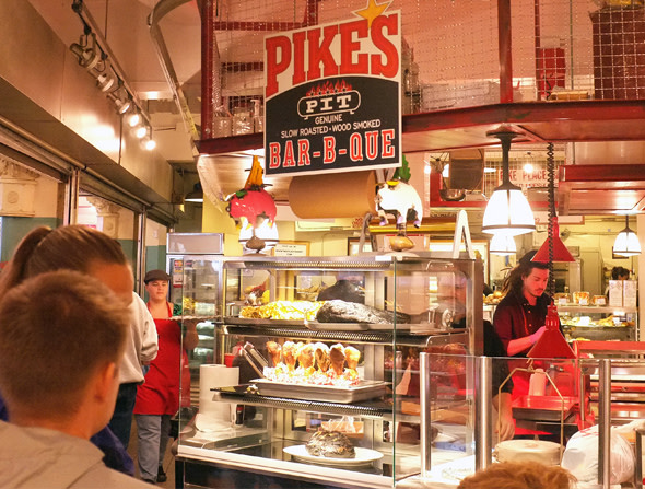 Pike S Pit Bar B Que Is Open In Pike Place Market
