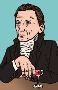 james monroe illustration drinking cocktails