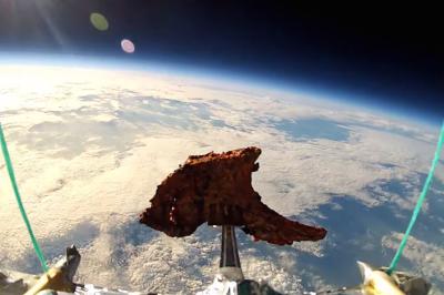 Tandoori lamb chop in space idttmr