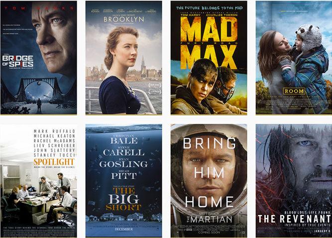 Oscar Nominations 2016 (Pack)