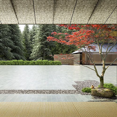 Portland japanese garden expansion plans  looking out of villiage house at tsubo niwa garden jd9bua