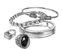 style resolutions rings bracelets drawing
