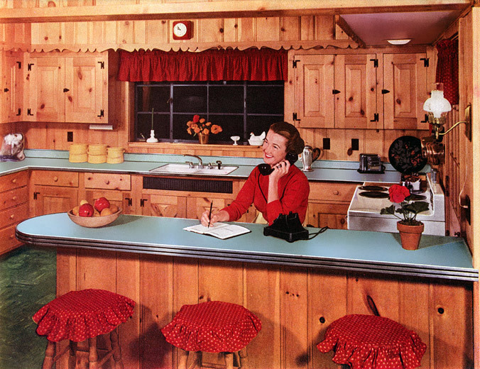 Superieur Formica Countertop In Full 1952 Glory. With A Kitchen Like That (and Even A  Phone), Who Wouldnu0027t Be Happy All The Time?