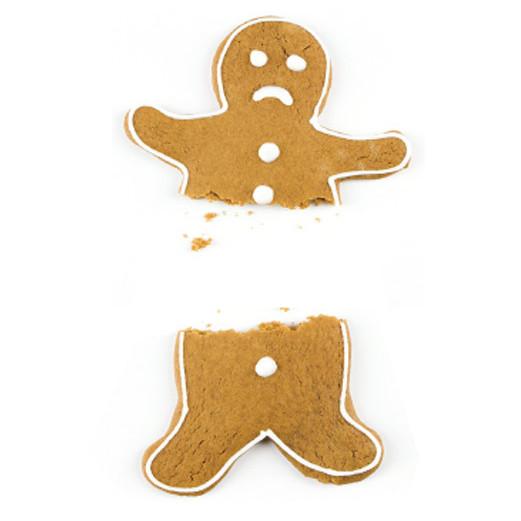 Broken gingerbread man tojkxo
