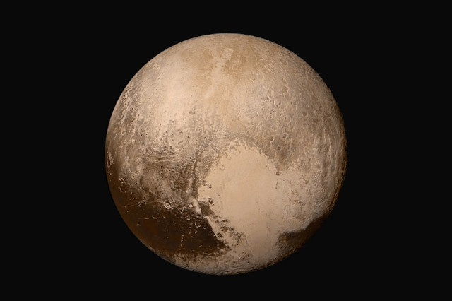 Global mosaic of pluto in true color egsf1e