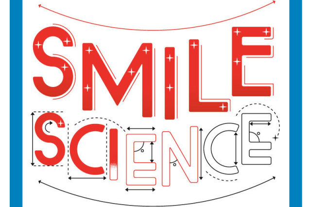 Smile science text graphic bhibdy