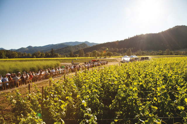 Farm to Fork's dinner at Cowhorn Vineyard
