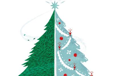 Christmas tree illustration qgmbuv