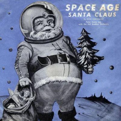 Space age santa claus album cover ycph06