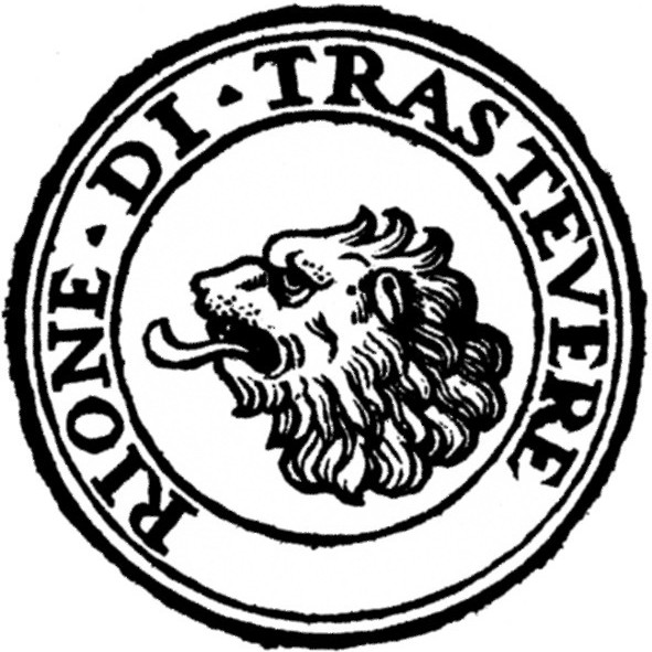 591px rome rione xiii trastevere logo qltpgd