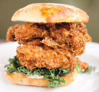 fried chicken sammy skillet diner