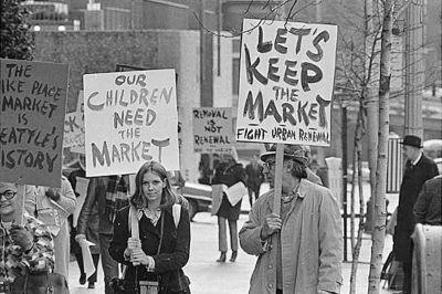 Pike place market protest 1971 ak1sq0