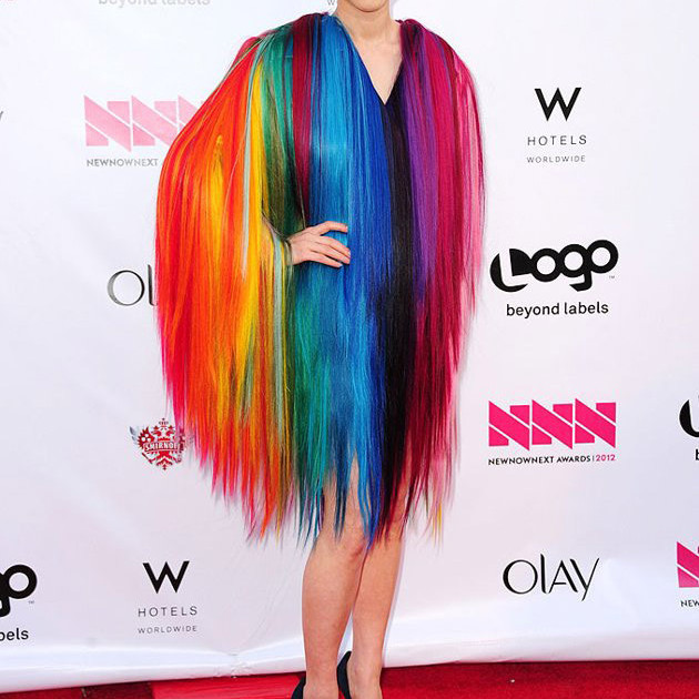 China chow rainbow hair o9ew6d