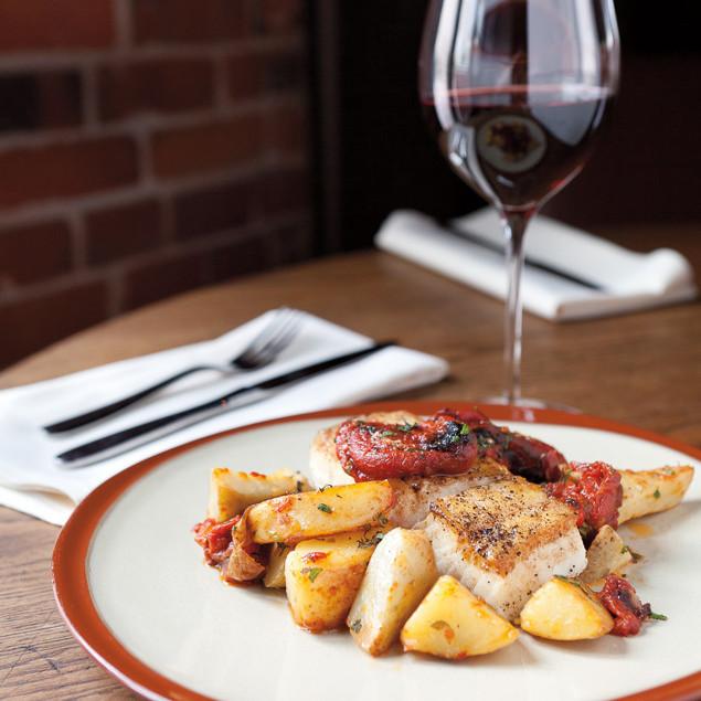 Wine plate food cuoco seattle vbzavb