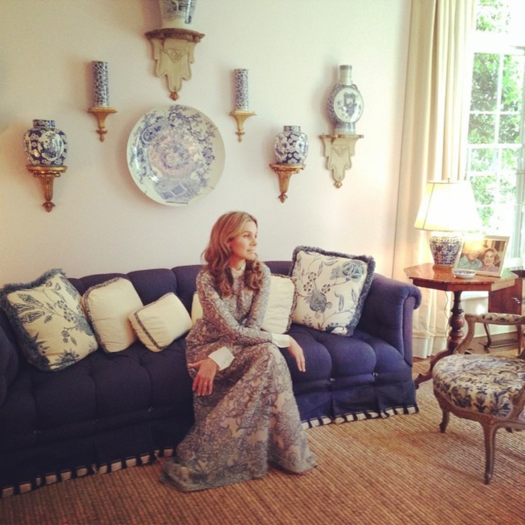 Aerin Lauder Poses During A Photo Shoot Inside Her Southampton Home.