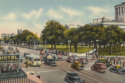 Columbus ohio vintage postcard broad and high street njm22p